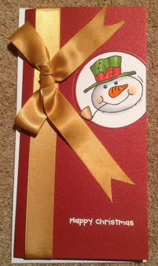 Woodware Snowman Card