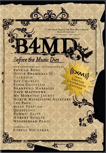 before the music dies Summaries with outstanding performances and revealing interviews before the music dies takes a critical look at the homogenization of popular music with commentary by some of the industry's biggest talents like eric clapton, dave matthews, elvis costello, erykah badu, branford marsalis, bonnie raitt and more.