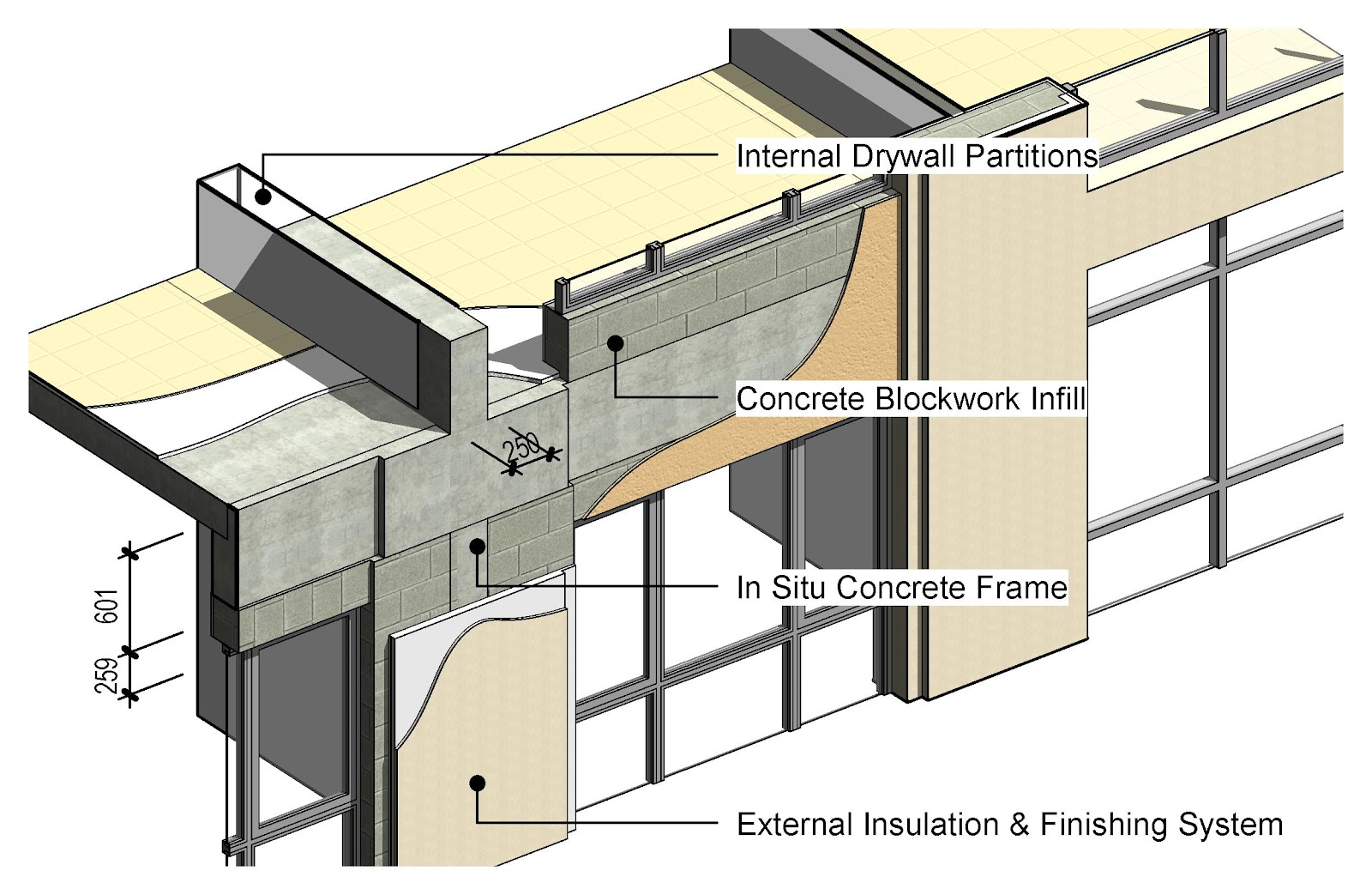 Multi Drywall Layers : Shades of grey breaking up is hard to do