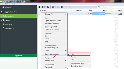 Menaikkan Bandwidth Alocation uTorrent