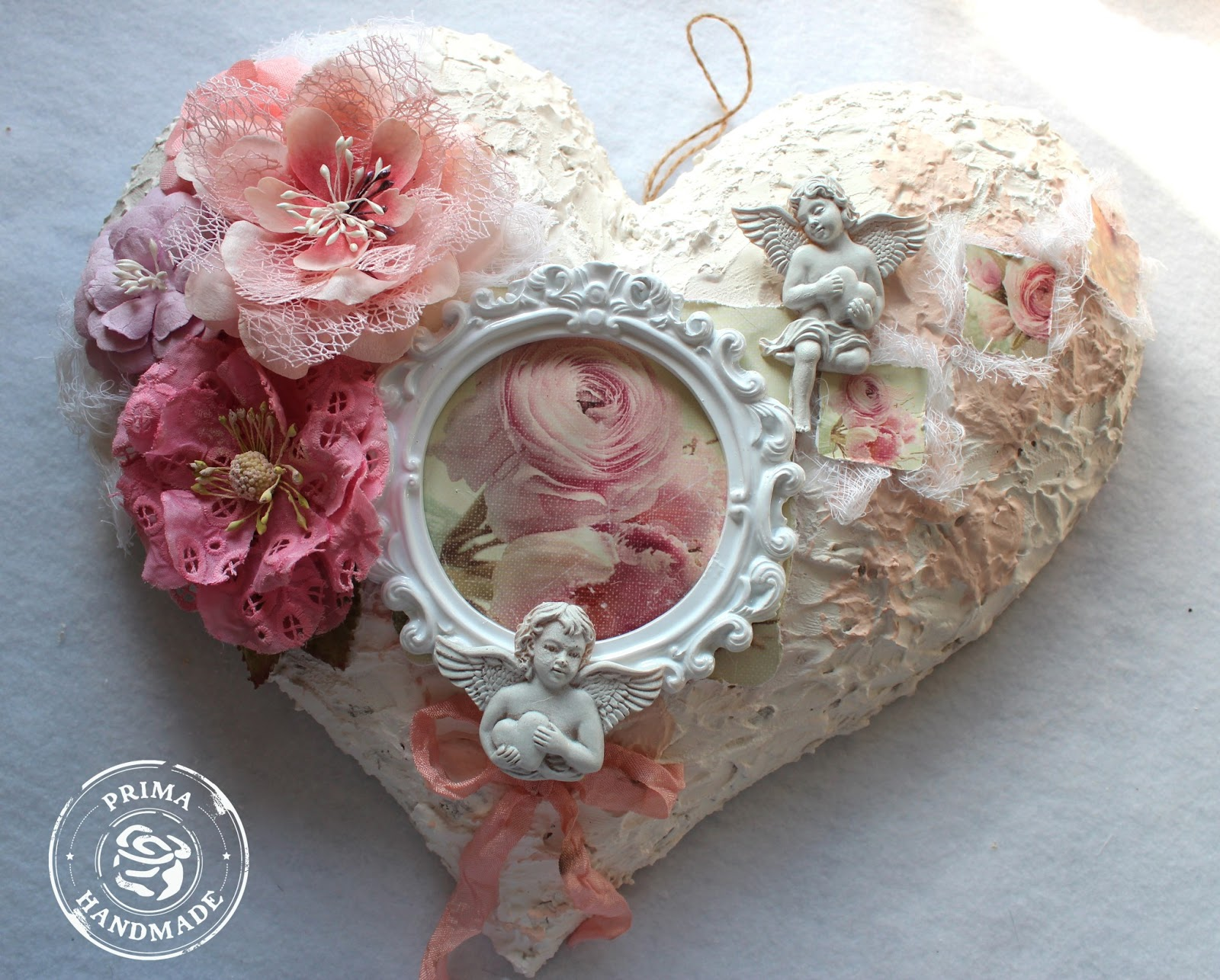 Shabby chic crafts to make - Shabby Chic Heart Sign Prima Hello Pastel Collection