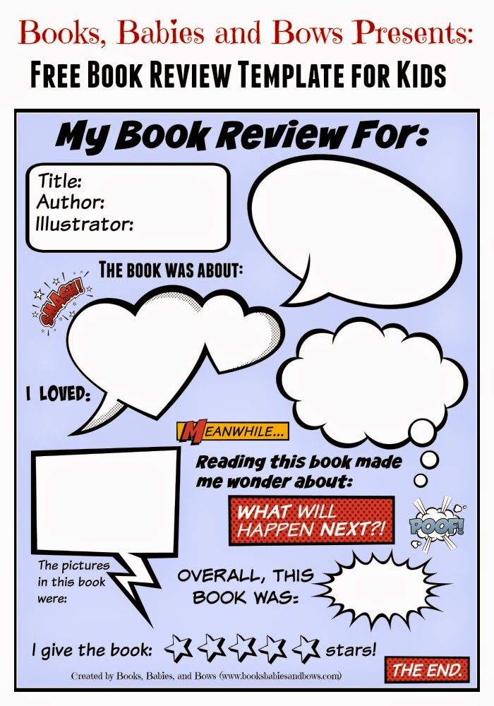 free book review template for kids
