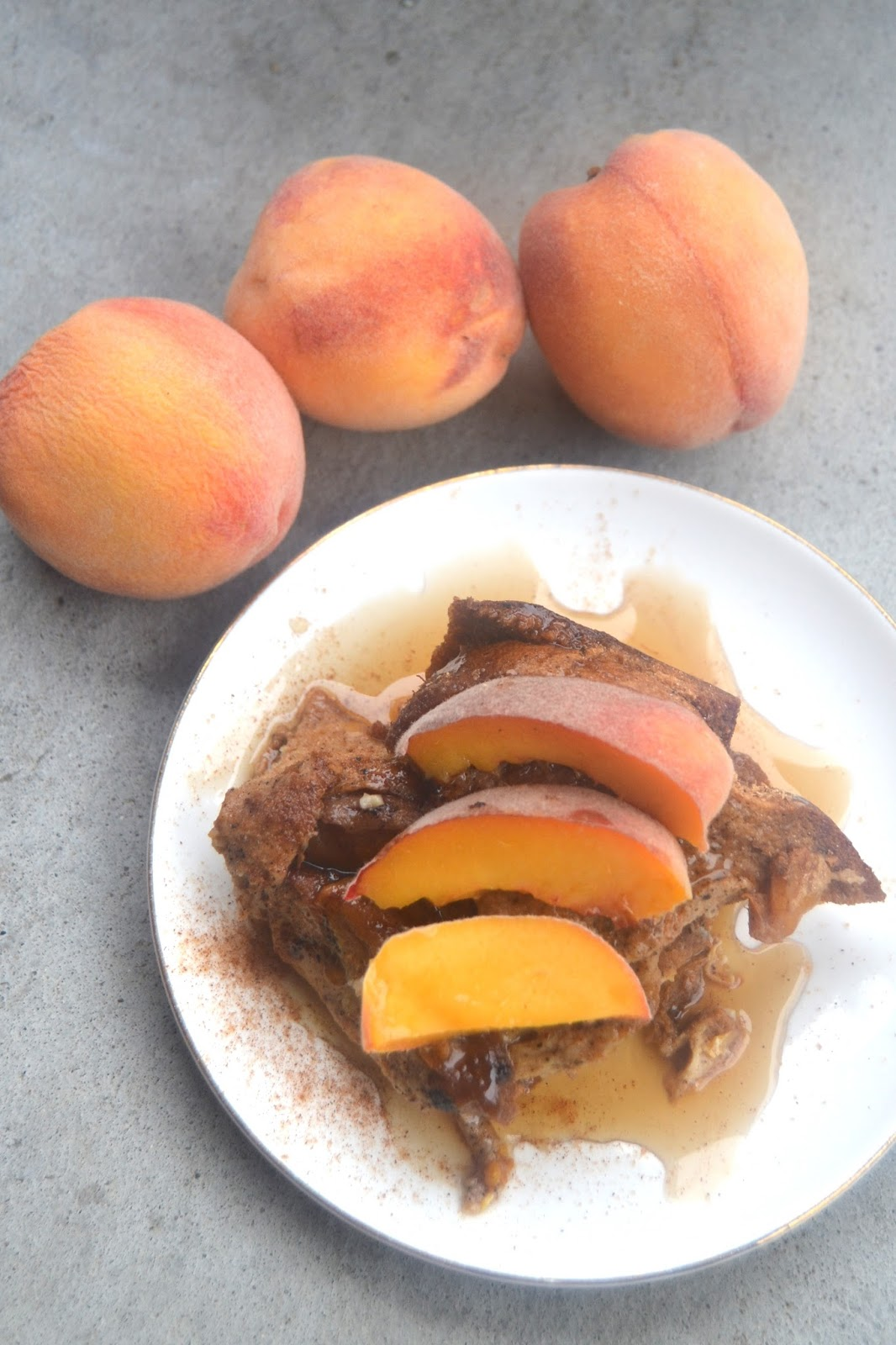 The Nutritionist Reviews: Slow Cooker Peach French Toast Casserole
