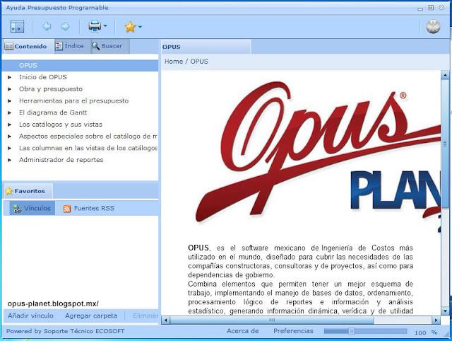Archivo de ayuda Opus Planet