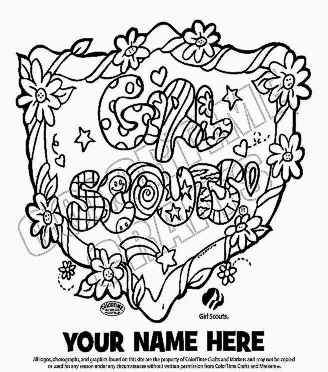 Girl Scout Coloring Sheets Free Coloring Sheet Scout Cookie Coloring Sheet Free