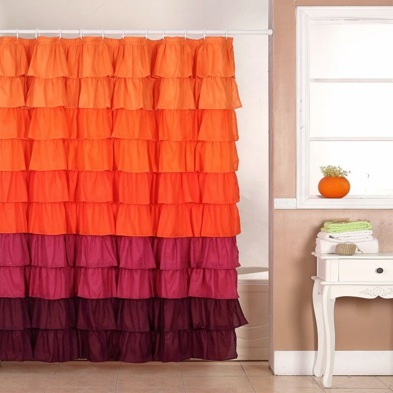 pretty things ruffle shower curtains