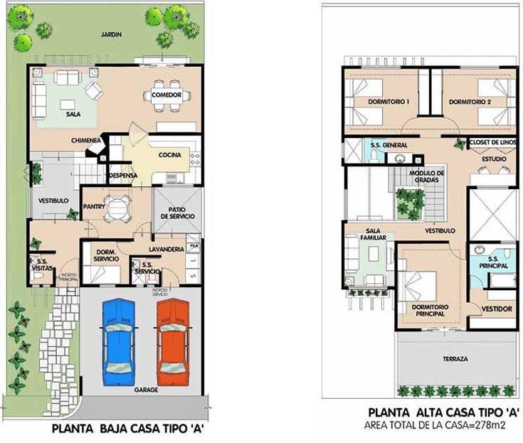 con estas dos lamina de plano puede disear su vivienda o simplemente buscar en conjuntos este tipo de en dos niveles