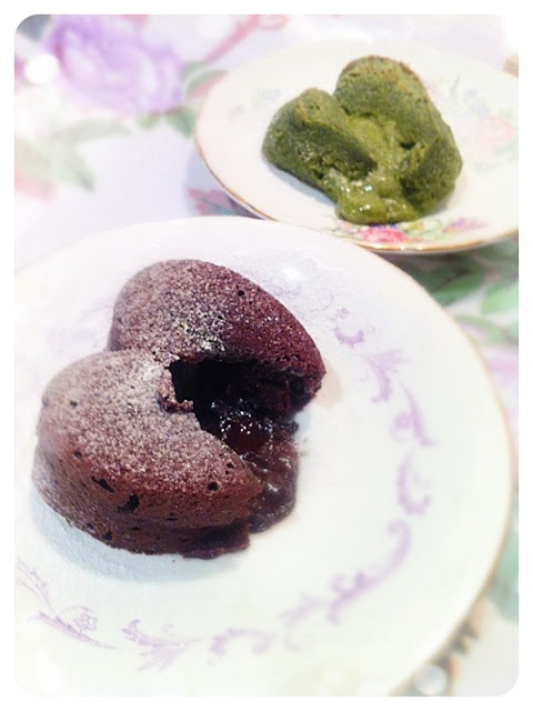 Cherie Kelly's Chocolate and Matcha Fondants