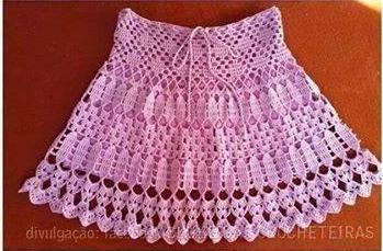 Falda volada tejida a Crochet