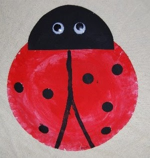 Paper Plate Ladybird & Child care education games safety