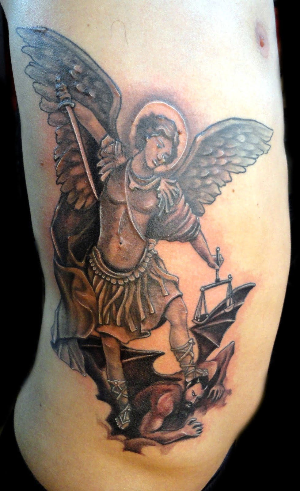 Arcangel Tatuajes fredartattoo: arcangel san miguel