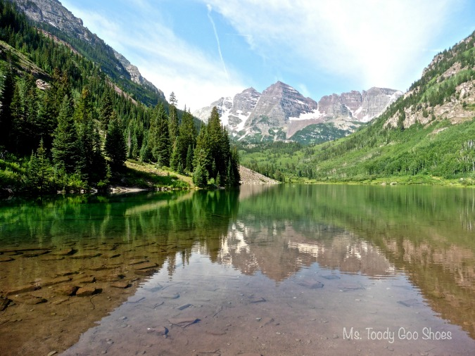Maroon Bells, Colorado ---  Ms Toody Goo Shoes