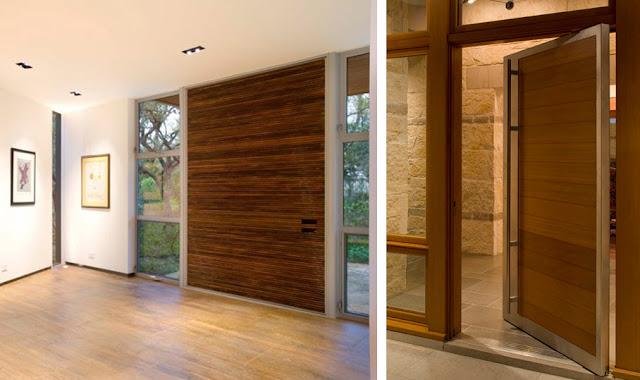 Puertas de exterior en madera inspiraci n espacios en madera for Madera para puertas exteriores