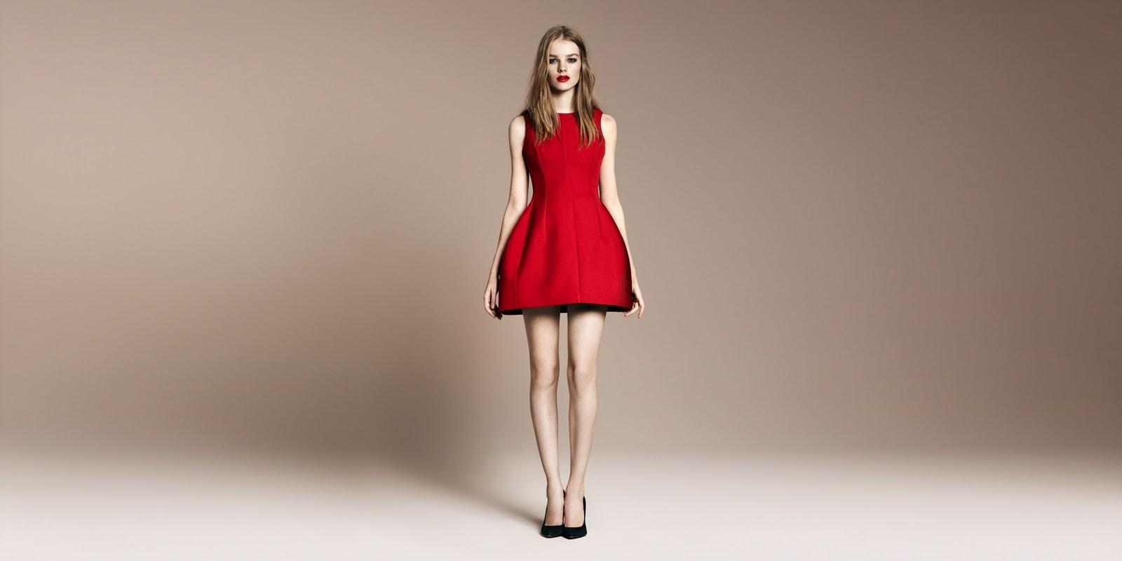 Zara Tulip Dress Red Tulip Dress by Zara