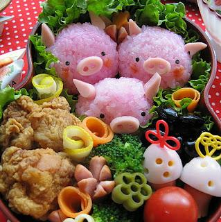 comida creativa creatividad alimentacion cuqui cute animal animales bichos bonito colores cerdo cerdito cerdos cerditos pig pigs pink rosa