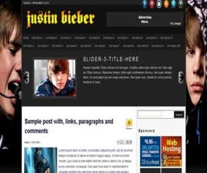 Justin Bieber Blogger Template