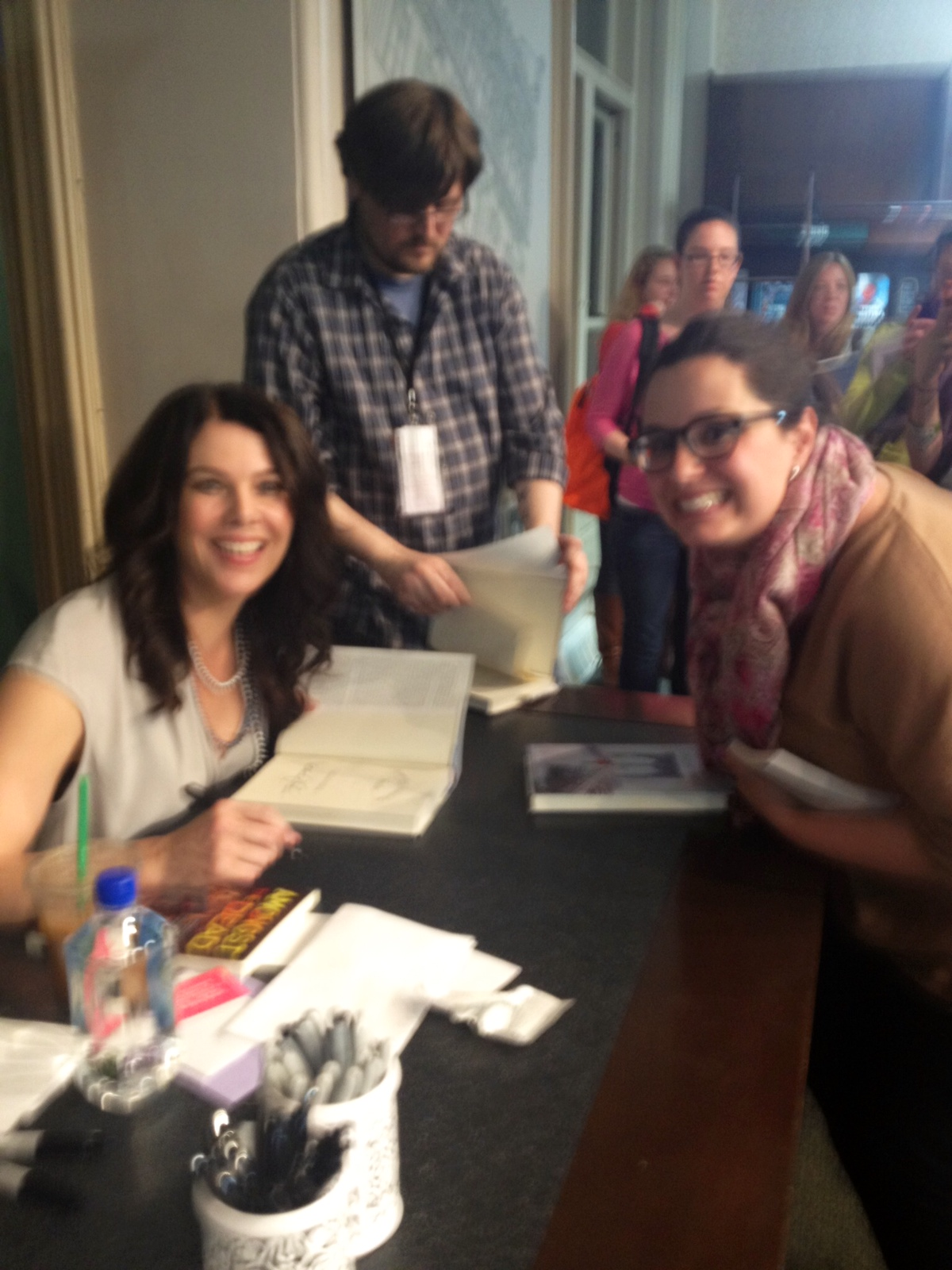 my first book signing someday someday be ummm now what anna quindlen was also signing books so obviously i got a copy of her new memoir for my mom no one was asking her to sign anything though so when i went