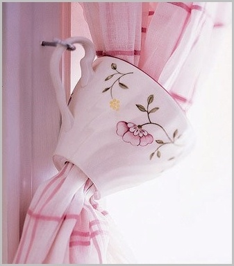 soporte para cortinas taza