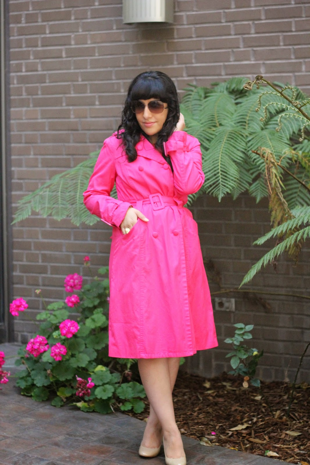 DVF Pink Izzie Solid Trench