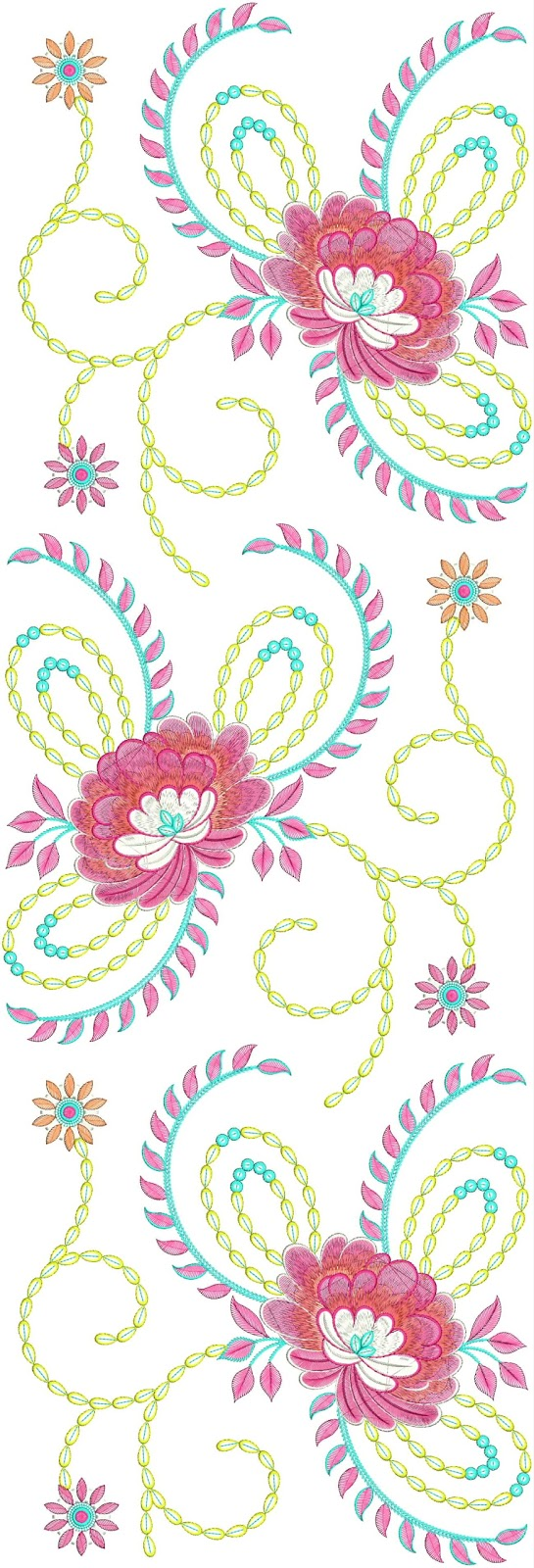 Mirror Work Floral Embroidery Designs  Embdesigntube