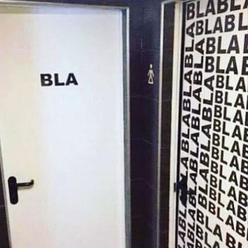 Bar do Bulga Banheiro feminino x masculino -> Banheiro Feminino Bla Bla Bla