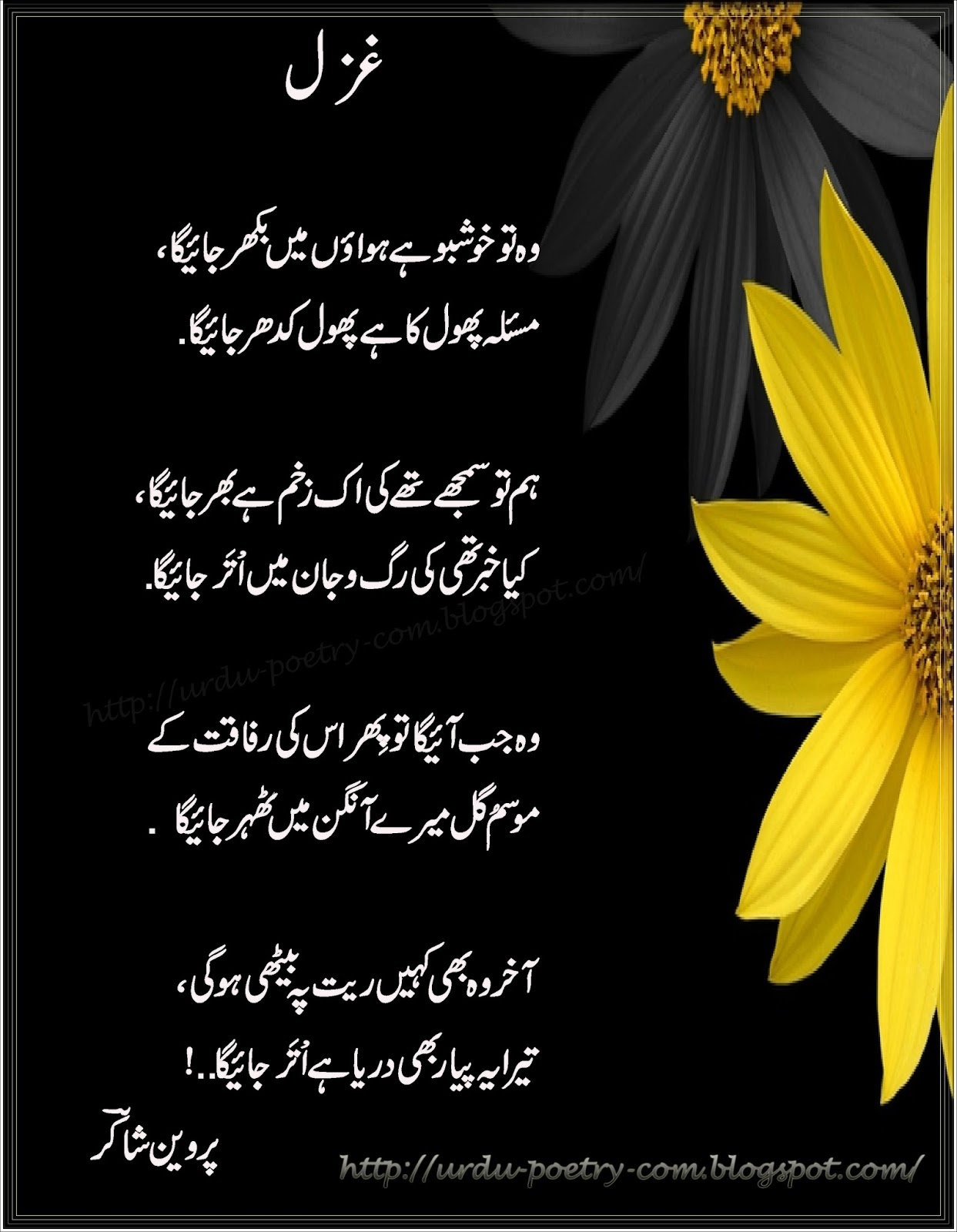 Aks e Khushboo By Parveen Shakir - Poetry Book Pdf