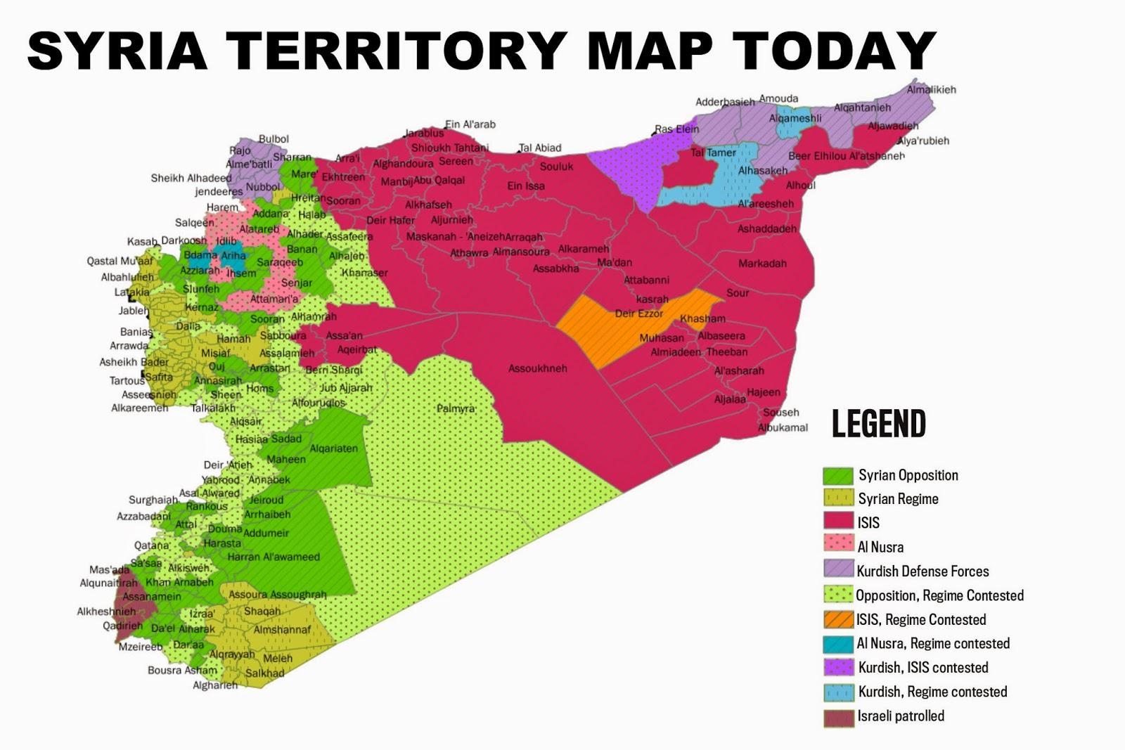 meanwhile also sirte in lybia is now under isis control this map show us the very dangerous situation in syria