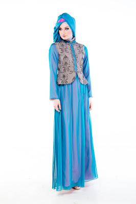 Desain Baju Pesta Muslim Shafira 2015