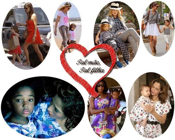 Mães e filhas de roupas gêmeas