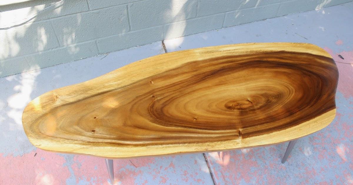 Modwerks Vintage Monkey Pod Wood Coffee Table
