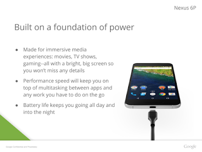 Leaked Presentation reveals the Full Specs of Nexus 6P : Coming with 3450mAh Battery etc..