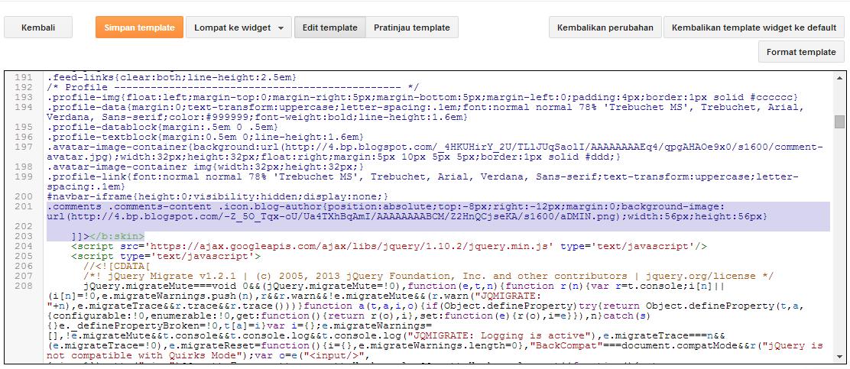 cara simpan kode css di blog