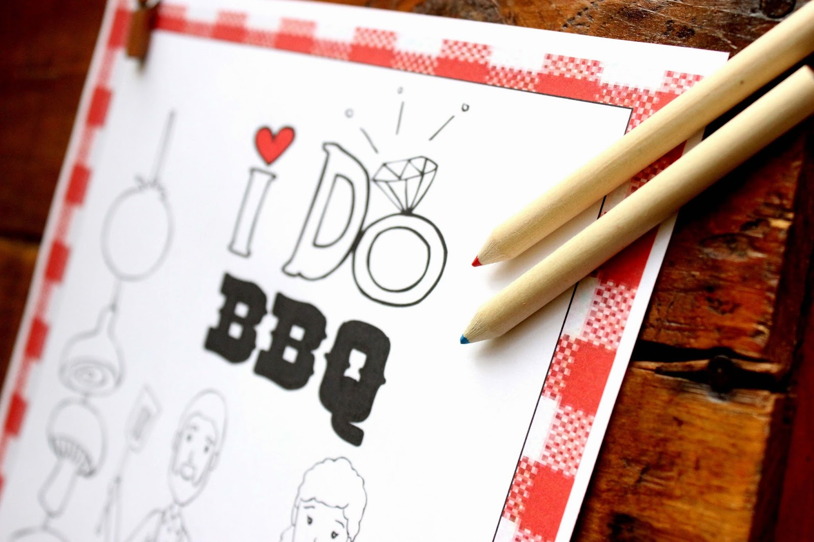 I do BBQ - Wedding Favor - Personalized Coloring book for your ...