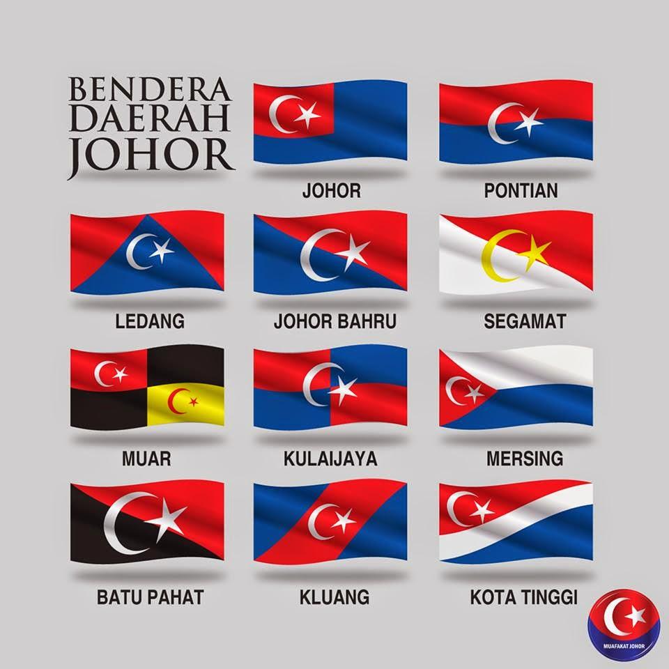 Bendera Rasmi Setiap Daerah Di Johor Darul Takzim