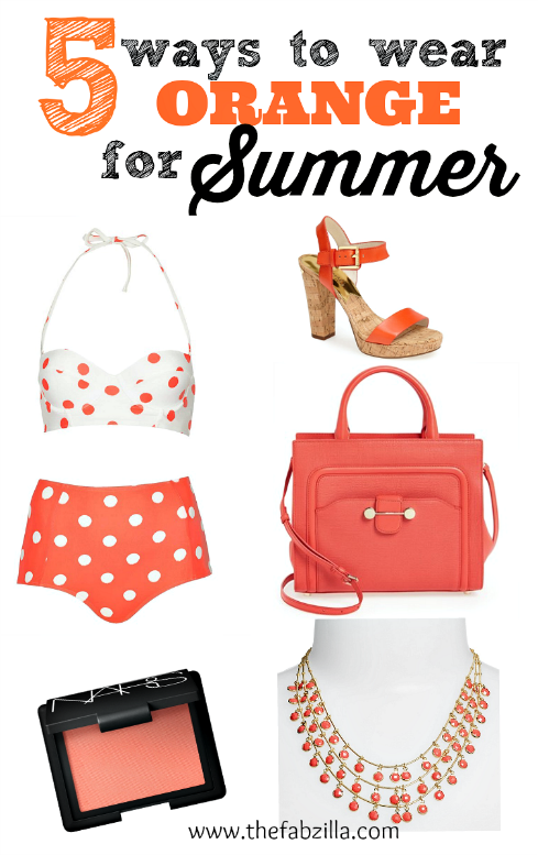 how to wear orange for summer, orange lips, orange nails, styleshop,dailylook