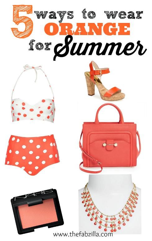 how to wear orange for summer, orange lips, orange nails, styleshop,dailylook
