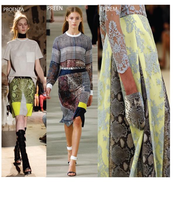 animal print, snakeskin, print, leopard print ss13 pattern,preen ss13 catwalk
