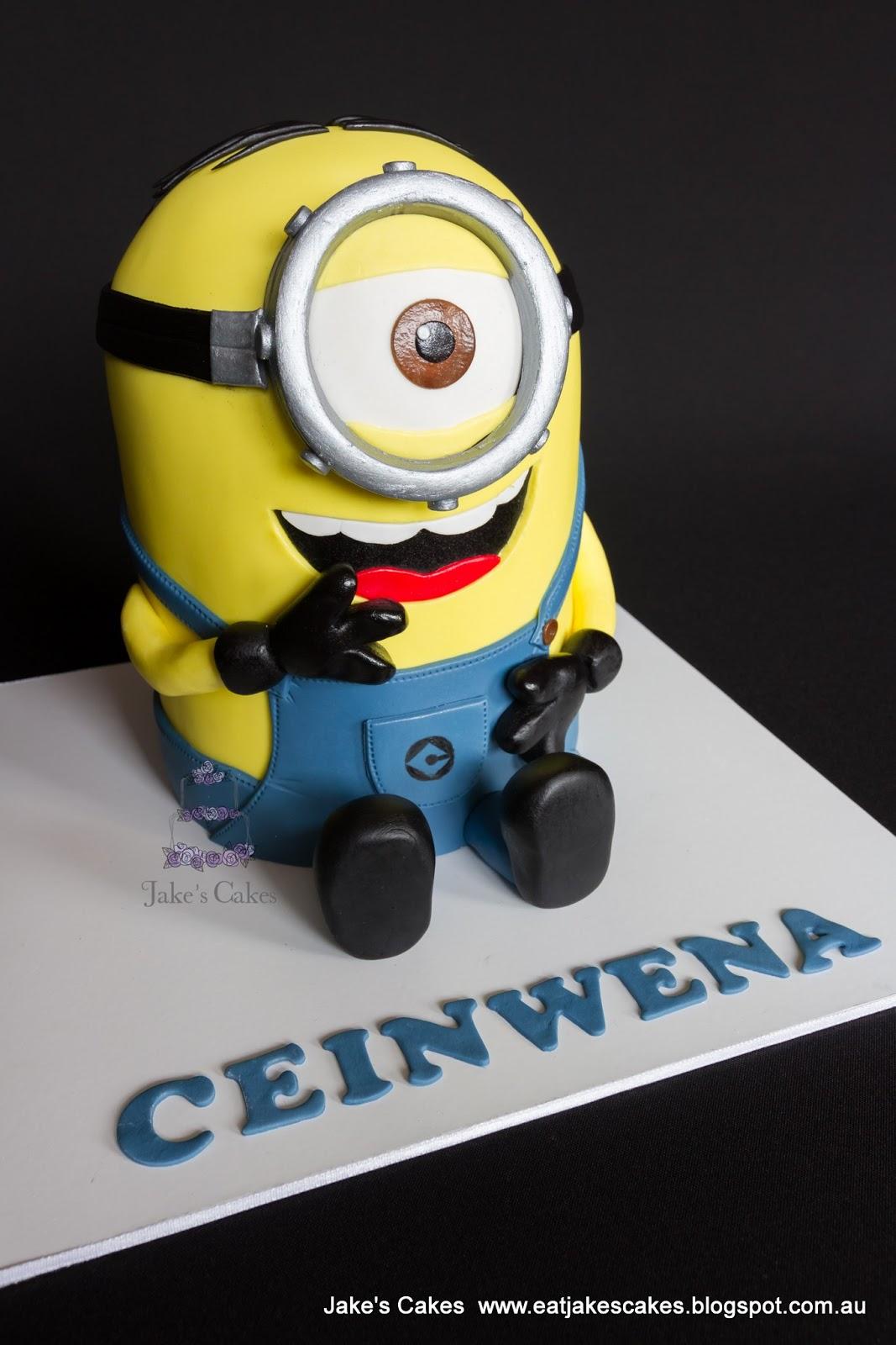 Minion Happy Birthday Kevin Jakes cakes: stuart the minion cake