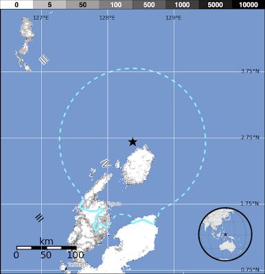 Epicentro sismo 5,7 grados Halmahera, Indonesia, 09 de Diciembre 2013
