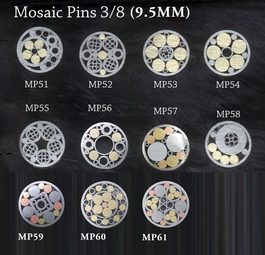 Damascus Deal: Mosaic Pins for Knife Handles.