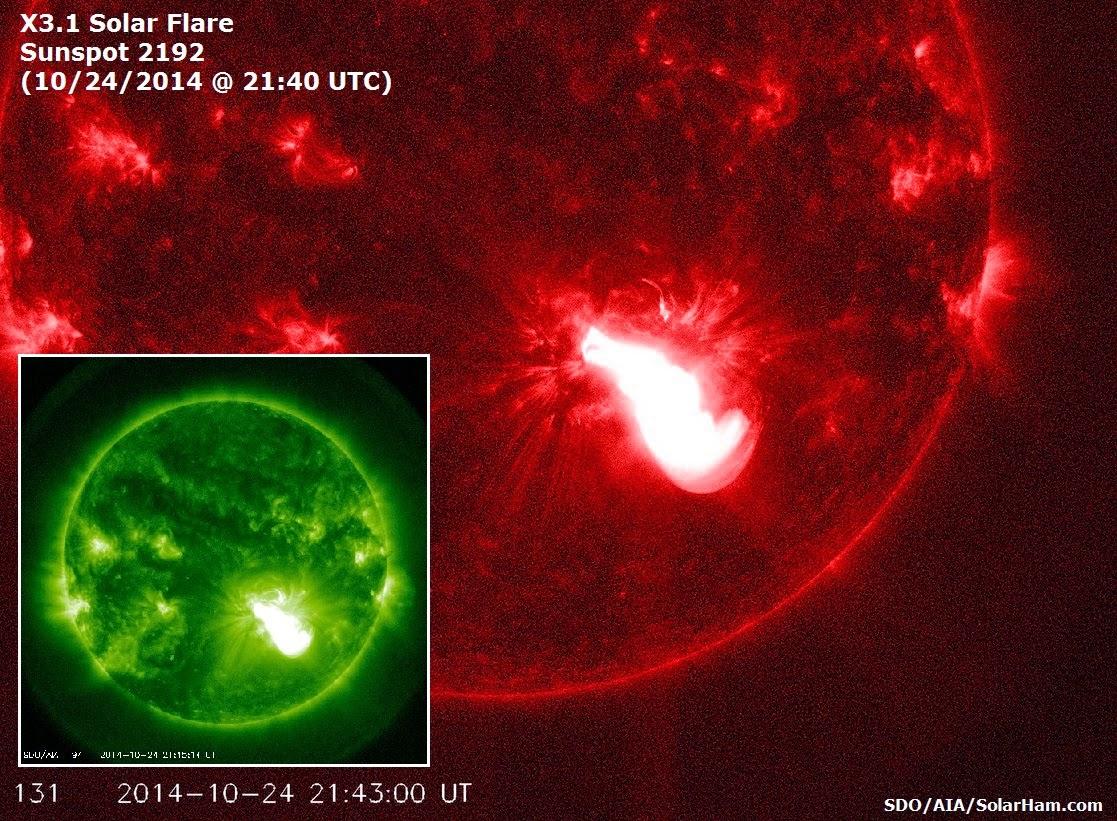 LLAMARADA SOLAR CLASE X3.1, 24 DE OCTUBRE 2014