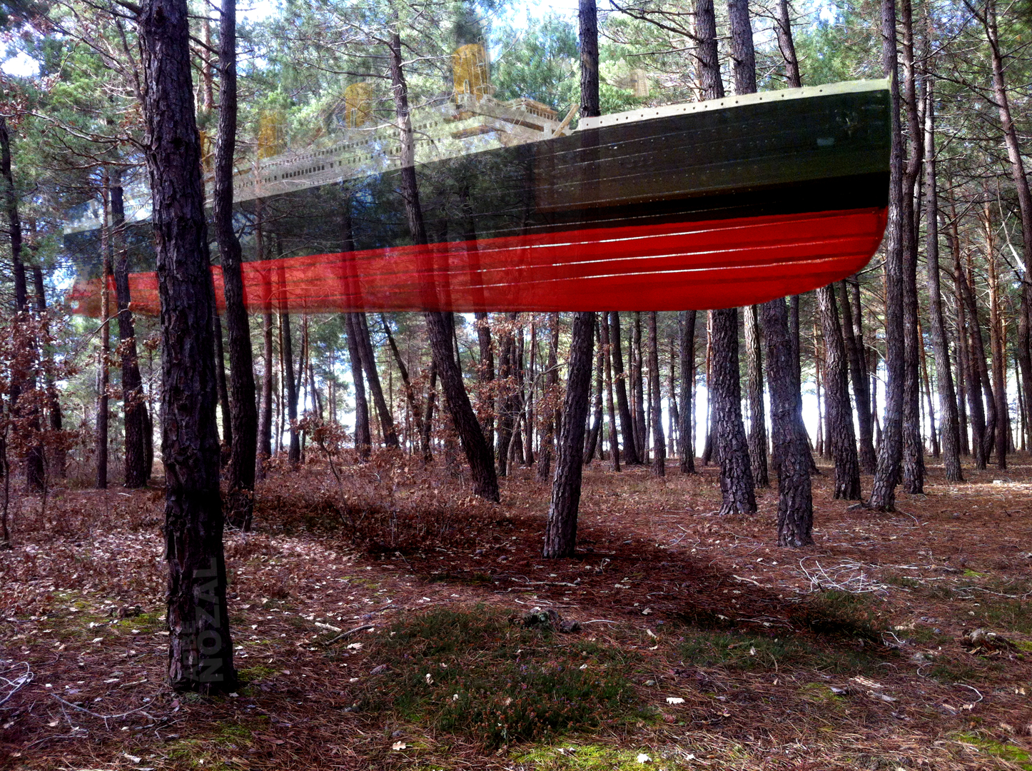 Titanic flotando en el pinar, 2015 Abbé Nozal