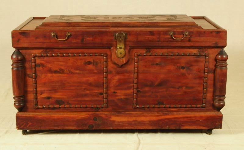 Huntsville Prison Made Folk Art Cedar Chest design