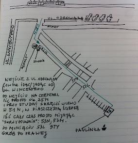 Dane grobu Pauli to 53 K. Tu jest mapka: