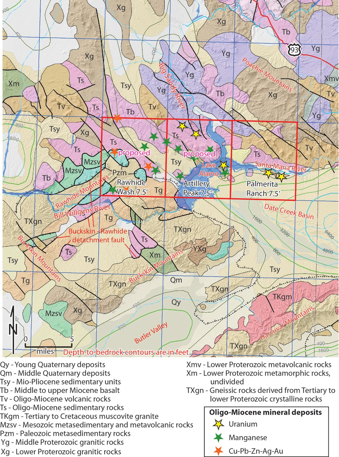 Arizona Geology: Why we map, #1: Artillery Mountains, Western Arizona