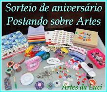 Sorteio de Aniversário do Postando sobre Artes