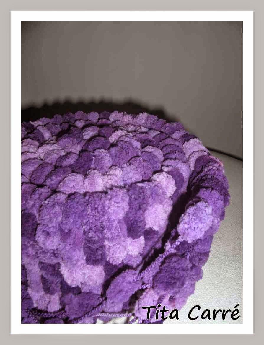 amostra cachecol em tricot