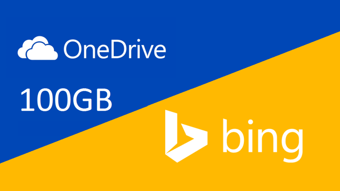 Free 100 GB space on OneDrive