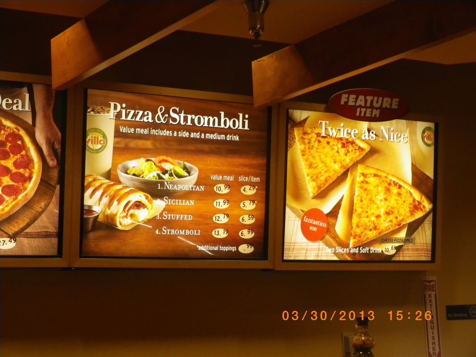 VC Menu Villa Fresh Italian Kitchen Las Vegas Airport NV