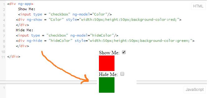 ng-show Example